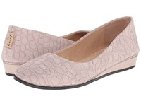 French Sole Zeppa Taupe Croco Women's Slip On Shoes
