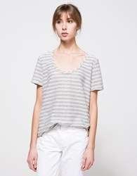 Which We Want Moss Ribbed Tee Grey Stripe