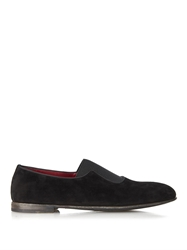 Dolce And Gabbana Amalfi Elasticated Suede Tuxedo Slippers