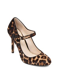 Jessica Simpson Raelyn Calf Hair And Leather Trimmed Stiletto Pumps Leopard