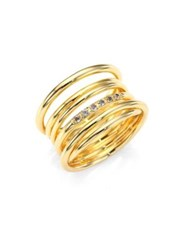 Elizabeth And James Roxy White Topaz Cage Ring Gold