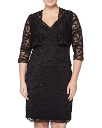 Marina Lace Cocktail Dress With Matching Jacket Black