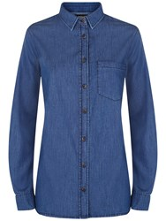Jaeger Denim Shirt Mid Blue