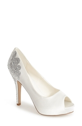 Menbur 'Angelina' Peep Toe Pump Women Ivory