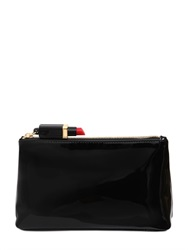 Lulu Guinness Faux Patent Leather Make Up Bag