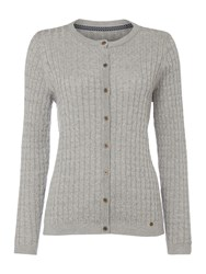 Dickins And Jones Claire Cable Knit Cardigan Grey