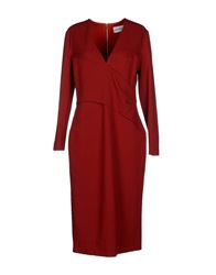 Emilio Pucci Knee Length Dresses Red