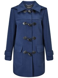 Four Seasons Plain Duffle Coat Airforce Blue