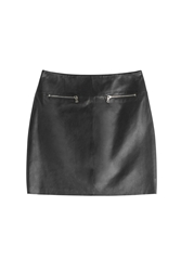 Hugo Leather Mini Skirt Black
