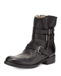 Alberto Fermani Triumvirate Leather Ankle Boot Black
