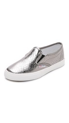 Superga 2311 Metallic Snake Slip On Sneakers Graphite