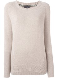 Etro Scoop Neck Jumper Nude And Neutrals
