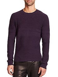Vince Solid Wool Blend Sweater Plum Royal