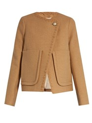 See By Chloe Patch Pocket Wool Blend Coat Camel