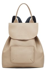 Elizabeth And James 'Langley' Pebbled Leather Backpack White Bone
