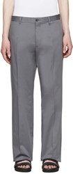 Dolce And Gabbana Grey Cotton Trousers