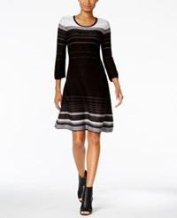 Nine West Striped A Line Sweater Dress Oxford