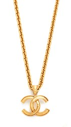 Wgaca Chanel Cc Necklace Previously Owned Gold