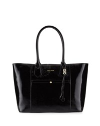 Cole Haan Mila Patent Leather Tote Bag Black