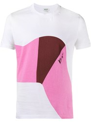 Kenzo Abstract Print T Shirt White