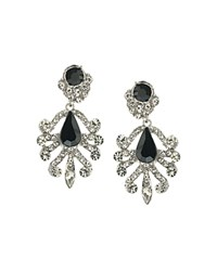 Abs By Allen Schwartz Chandelier Earrings Black