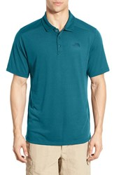 The North Face Men's 'Crag' Flashdry Polo Blue Coral