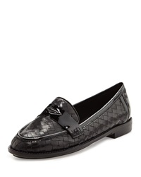 Sesto Meucci Nattie Woven Leather Loafer Black