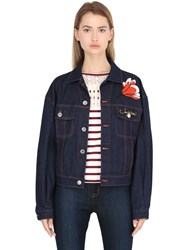 See By Chloe Embroidered Cotton Denim Jacket