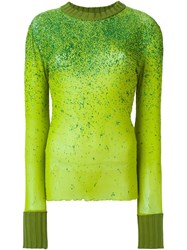 Jean Paul Gaultier Vintage Degrade Glitter Top Green