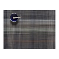 Chilewich Plaid Rectangle Placemat Grey