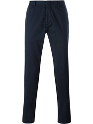 Z Zegna Straight Fit Chinos Blue