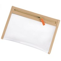 Stow Clear View Travel Pouch Organiser Sandy Stone Neutrals