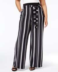 Inc International Concepts Plus Size Striped Wide Leg Trousers Only At Macy's Urban Jungle