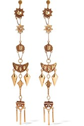 Chloe Layton Hammered Gold Tone Earrings