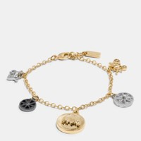 Coach Horse And Carriage Coin Mix Bracelet Gold Silver