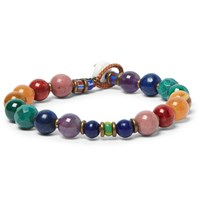 Mikia Ikia United Arrows Rainbow Ulti Stone Bead Bracelet Blue