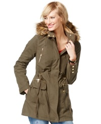 Inc International Concepts Faux Fur Trim Anorak Jacket Only At Macy's
