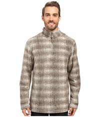 True Grit Melange Shadow Plaid 1 2 Zip Pullover Brown Men's Clothing