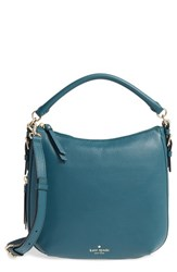 Kate Spade New York 'Cobble Hill Small Ella' Leather Satchel Green Emerald Forest