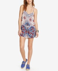 Denim And Supply Ralph Lauren Floral Print Romper White