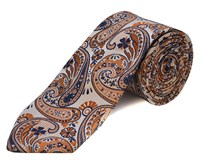 Double Two Polyester Tie Brown