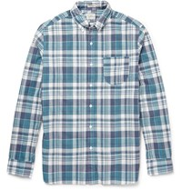 J.Crew Farnsworth Slim Fit Madras Check Cotton Shirt Blue