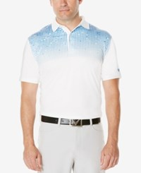Callaway Men's Patterned Golf Polo Bright White