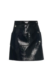 Courreges Patent Leather Mini Skirt Black