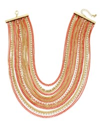 Abs By Allen Schwartz Color Pop Crystal Multi Row Statement Necklace
