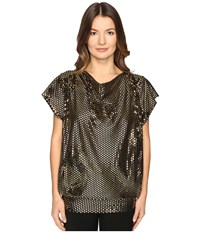 Vivienne Westwood Snail Top Black Laminated Women's Clothing Olive