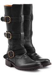Fiorentini Baker And Bootie 35 Buckled Leather Boots Black