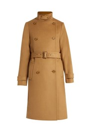 Vince Wool And Cashmere Blend Trench Coat Camel