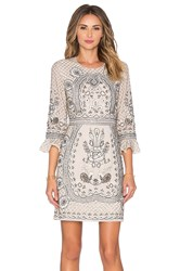 Needle And Thread Scallop Lace Dress Beige