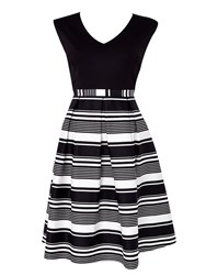 Wallis Stripe Skirt Dress Black